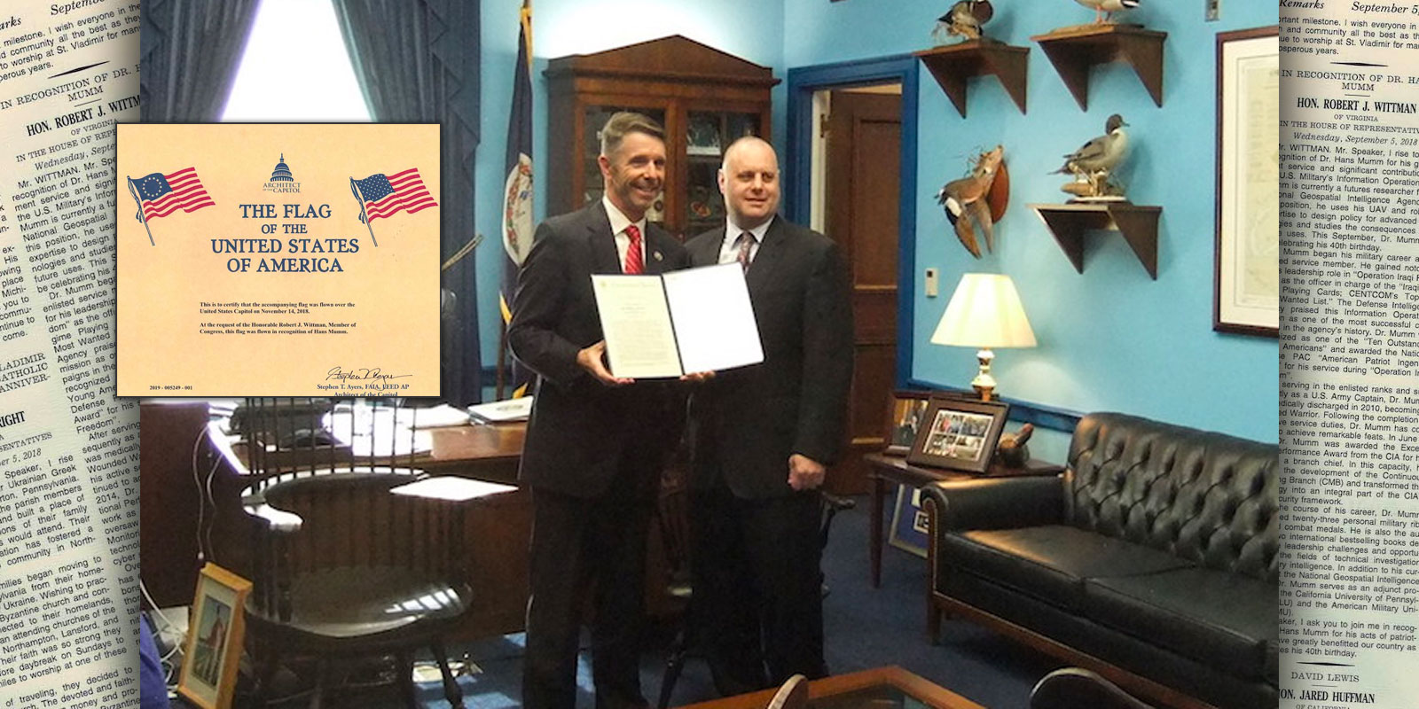 Congressional Record to one of our Nations Heroes, Dr. Hans Mumm